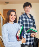 Portrait of smiling students couple Royalty Free Stock Photography