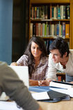 Portrait of smiling students working together Stock Images
