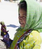 Portrait of a smiling Tarahumara native girl Royalty Free Stock Photos