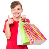 Teen boy - Christmas concept Royalty Free Stock Images