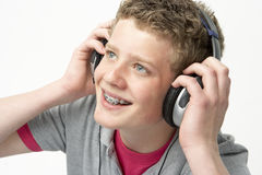 Portrait of Smiling Teenage Boy Stock Image