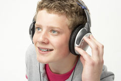 Portrait of Smiling Teenage Boy Stock Photography
