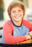 Portrait Of Smiling Teenage Boy Stock Photo
