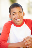 Portrait Of Smiling Teenage Boy Royalty Free Stock Photography