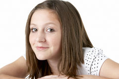 Portrait Of Smiling Teenage Girl Stock Photography