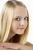 Portrait Of Smiling Teenage Girl Stock Images