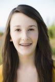 Portrait Of Smiling Teenage Girl Royalty Free Stock Image