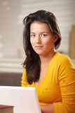 Portrait of smiling teenage girl Stock Photo