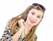 Portrait of a smiling teenage girl Stock Photo