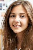 Portrait Of Smiling Teenage Girl At Home Royalty Free Stock Photography