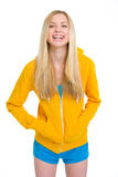 Portrait of smiling teenager girl Royalty Free Stock Photos