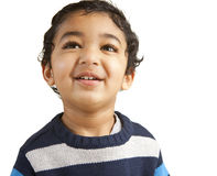 Portrait of a Smiling Toddler. Isolated on White stock photography