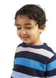 Portrait of a Smiling Toddler. Isolated on White royalty free stock photography
