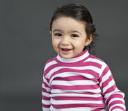 Portrait of a Smiling Toddler Girl Royalty Free Stock Image