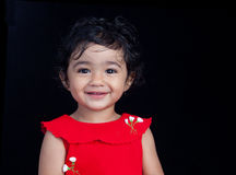 Portrait of Smiling Toddler Girl Royalty Free Stock Images