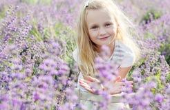 Portrait smiling toddler girl Stock Photos