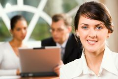 Portrait of smiling trainee Royalty Free Stock Images