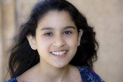Portrait of smiling Tween Girl Stock Photo