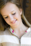 Portrait of Smiling Tween Girl Royalty Free Stock Images