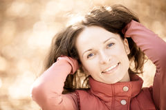Portrait of smiling woman Royalty Free Stock Photography