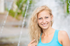 Portrait of smiling woman Royalty Free Stock Photo