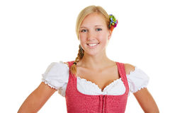 Portrait of smiling woman in dirndl Royalty Free Stock Photos