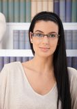 Portrait of smiling woman in glasses Royalty Free Stock Images
