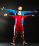 Portrait of smiling woman and man. Happy couple. Royalty Free Stock Images