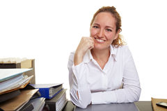 Portrait of smiling woman in office Royalty Free Stock Photos