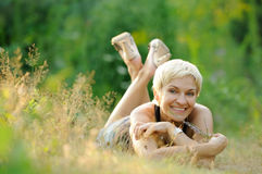 Portrait of smiling woman outdoors Stock Photography