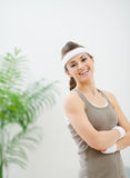 Portrait of smiling woman in sportswear Royalty Free Stock Photography