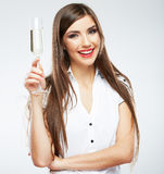 Portrait of smiling woman  Stock Images
