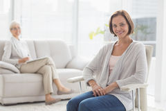 Portrait of smiling woman with therapist Royalty Free Stock Photography