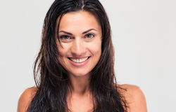 Portrait of a smiling woman with wet hair Royalty Free Stock Image
