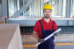 Portrait of smiling worker Stock Photo