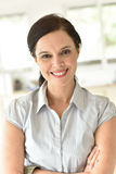 Portrait of smiling 40-year-old woman Royalty Free Stock Image
