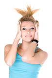 Portrait of smiling young blond girl Royalty Free Stock Photos
