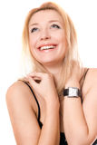 Portrait of a smiling young blonde Stock Images