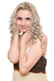 Portrait of smiling young blonde. Isolated Royalty Free Stock Images