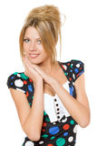 Portrait of smiling young blonde. Isolated Stock Photos