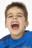 Portrait Of Smiling Young boy. Close up Portrait Of Smiling Young boy Royalty Free Stock Photography