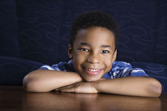 Portrait of Smiling Young Boy stock images