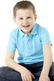 Portrait Of Smiling Young Boy.  Stock Photo