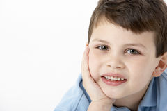 Portrait Of Smiling Young Boy Royalty Free Stock Images