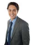 Portrait of smiling young businessman Stock Images
