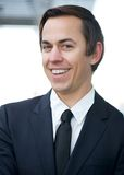 Portrait of a smiling young businessman Stock Photography