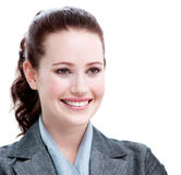 Portrait of a smiling young businesswoman Stock Photos