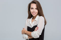 Portrait of a smiling young businesswoman Stock Images