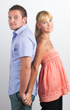 Portrait of a smiling young couple Royalty Free Stock Images