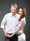 Portrait of smiling young couple Royalty Free Stock Photography